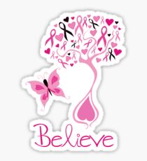 Believe - Breast Cancer Survivor Sticker