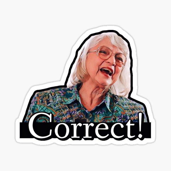"Billy's teacher says, ""Correct!"" Sticker"