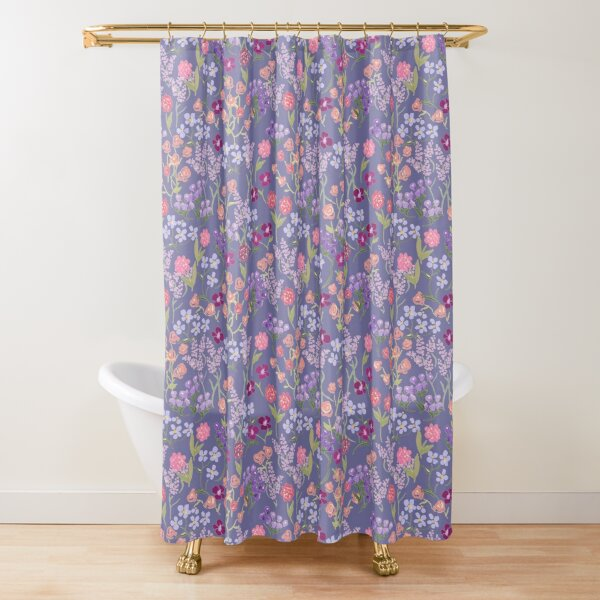 Imaginary Garden in Lilac by Tea with Xanthe Shower Curtain