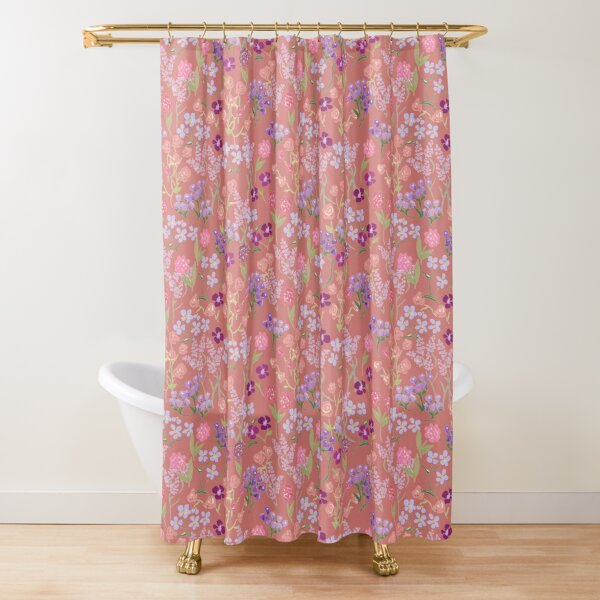 Imaginary Garden in Rose by Tea with Xanthe Shower Curtain