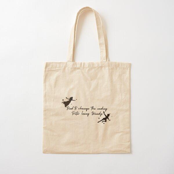 Peter Losing Wendy- Taylor Swift/Folklore Lyrics Cotton Tote Bag