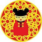 Chinese kokeshi doll by balgrittella