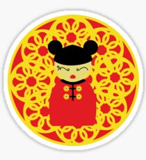 Chinese kokeshi doll Sticker