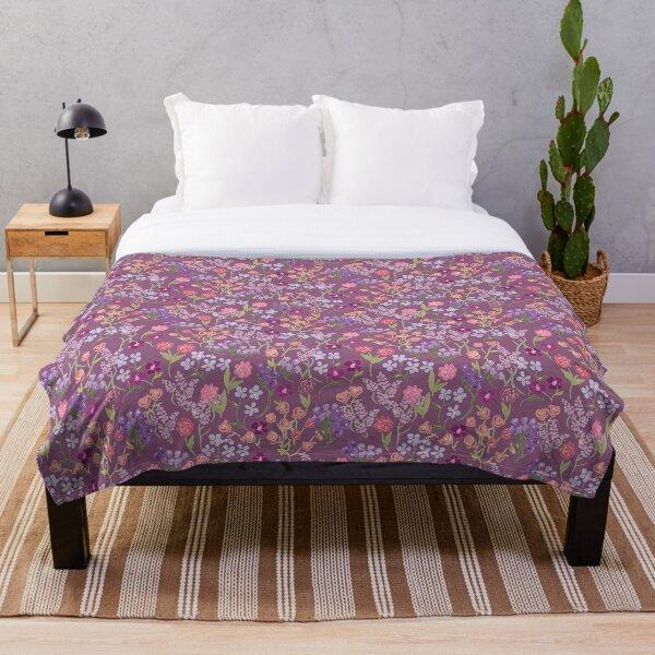 Imaginary Garden in Hyssop by Tea with Xanthe Throw Blanket