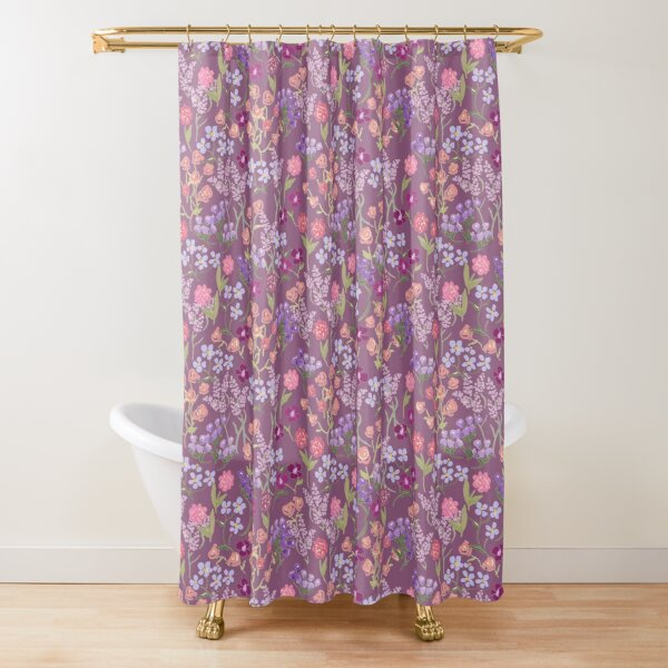 Imaginary Garden in Hyssop by Tea with Xanthe Shower Curtain