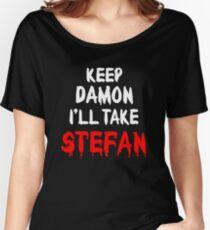 Keep Damon, I'll take Stefan Women's Relaxed Fit T-Shirt