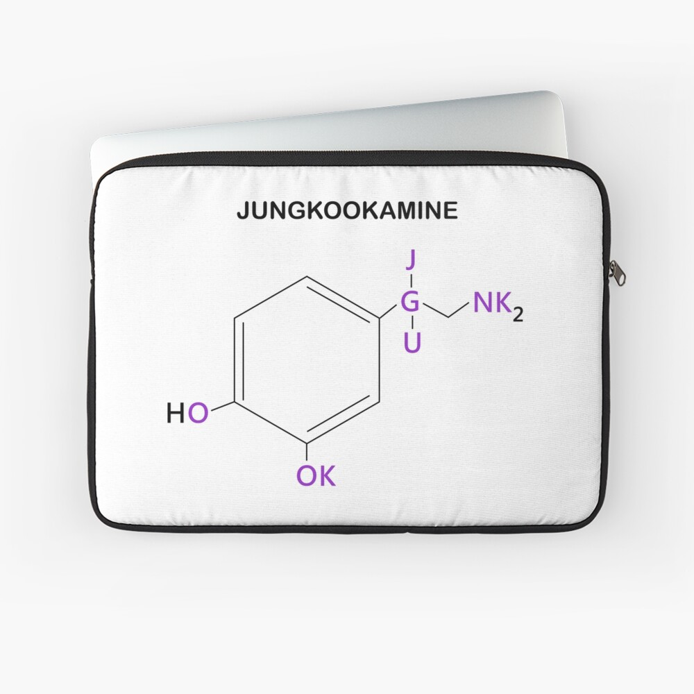BTS Jungkook Compound Jungkookamine Laptop Sleeve