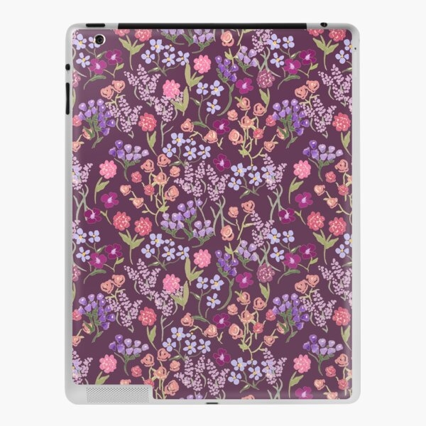Imaginary Garden in Eggplant by Tea with Xanthe iPad Skin