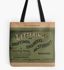Lettering for Draftsmen, Engineers and Students, 1920 Tote Bag