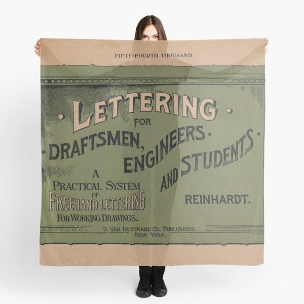Lettering for Draftsmen, Engineers and Students, 1920 Scarf