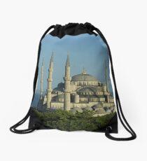 Blue Mosque Drawstring Bag