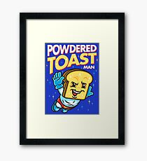 Super Toast Man Framed Print