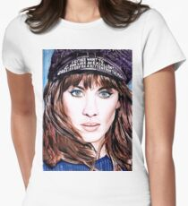 Alexa Chung Watercolour Womens Fitted T-Shirt