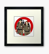 Ghostbusters Files - Mulder & Scully Framed Print
