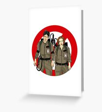Ghostbusters Files - Mulder & Scully Greeting Card