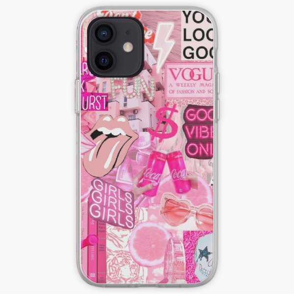 Aesthetic Pink Collage iPhone Soft Case