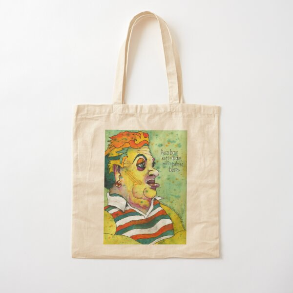 Lisbon Lady Cotton Tote Bag