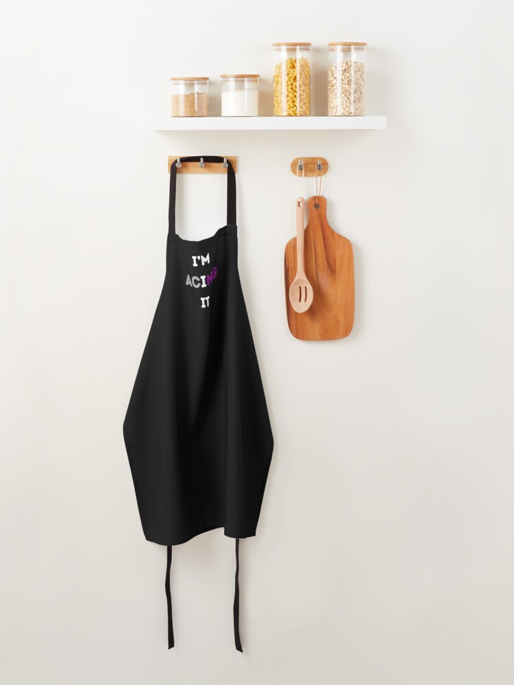 Alternate view of I'M ACING IT Asexual Flag Apron