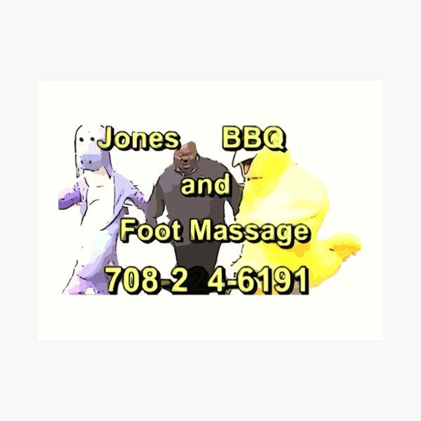 Jones BBQ and Foot Massage Art Print