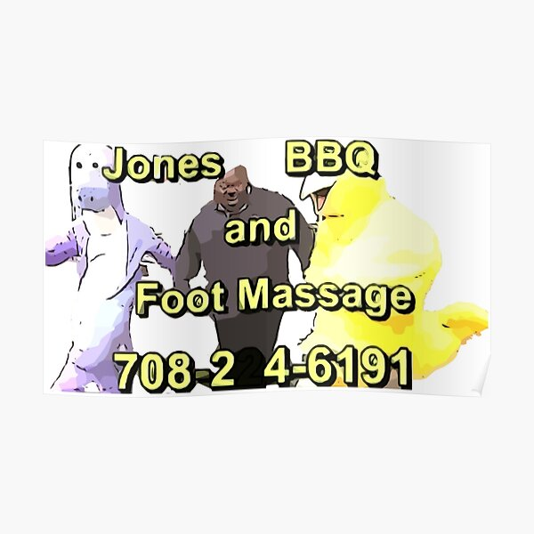 Jones BBQ and Foot Massage Poster
