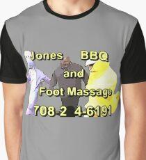 Jones BBQ and Foot Massage Graphic T-Shirt