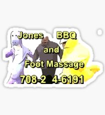 Jones BBQ and Foot Massage Sticker