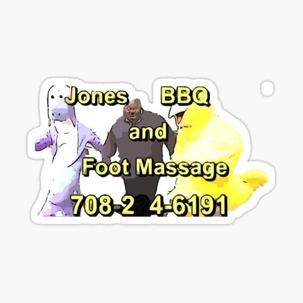 BBQ Jones et massage des pieds Sticker