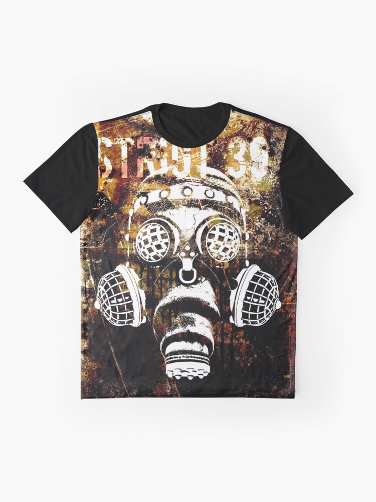 Alternate view of Another Steampunk / Cyberpunk Gas Mask Graphic T-Shirt