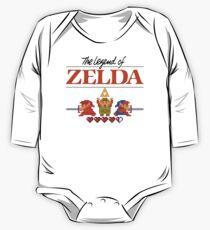 Die Legende von Zelda Ocarina der Zeit 8 Bit Langärmeliger Einteiler