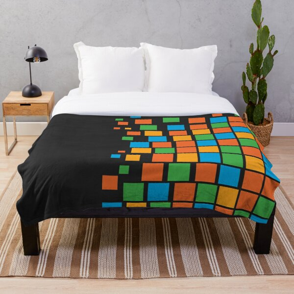 Copy of Colorful Squares Throw Blanket