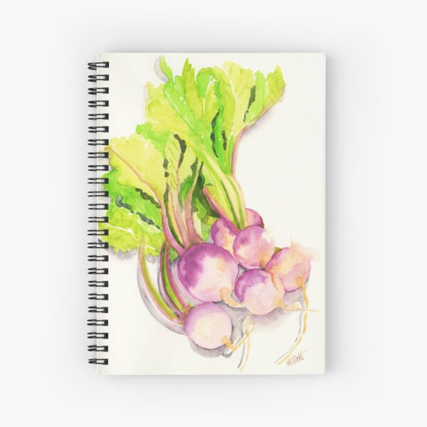 Turnips from the garden Spiral Notebook