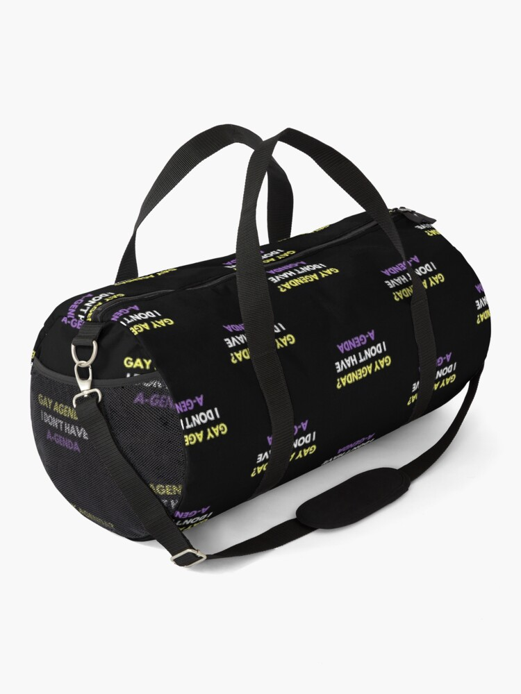 Alternate view of Gay Agenda? I don't have a genda! Duffle Bag