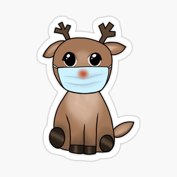 Rudolph with a Mask  Sticker