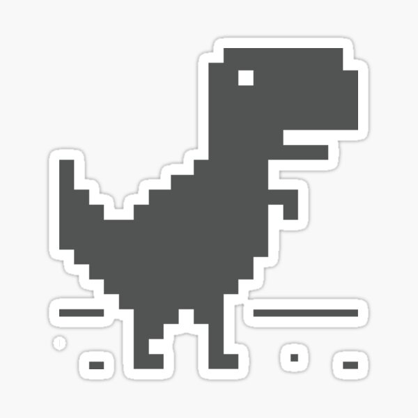 Unable to connect to the internet - Dinosaur Sticker