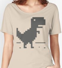 Unable to connect to the internet - Dinosaur Women's Relaxed Fit T-Shirt