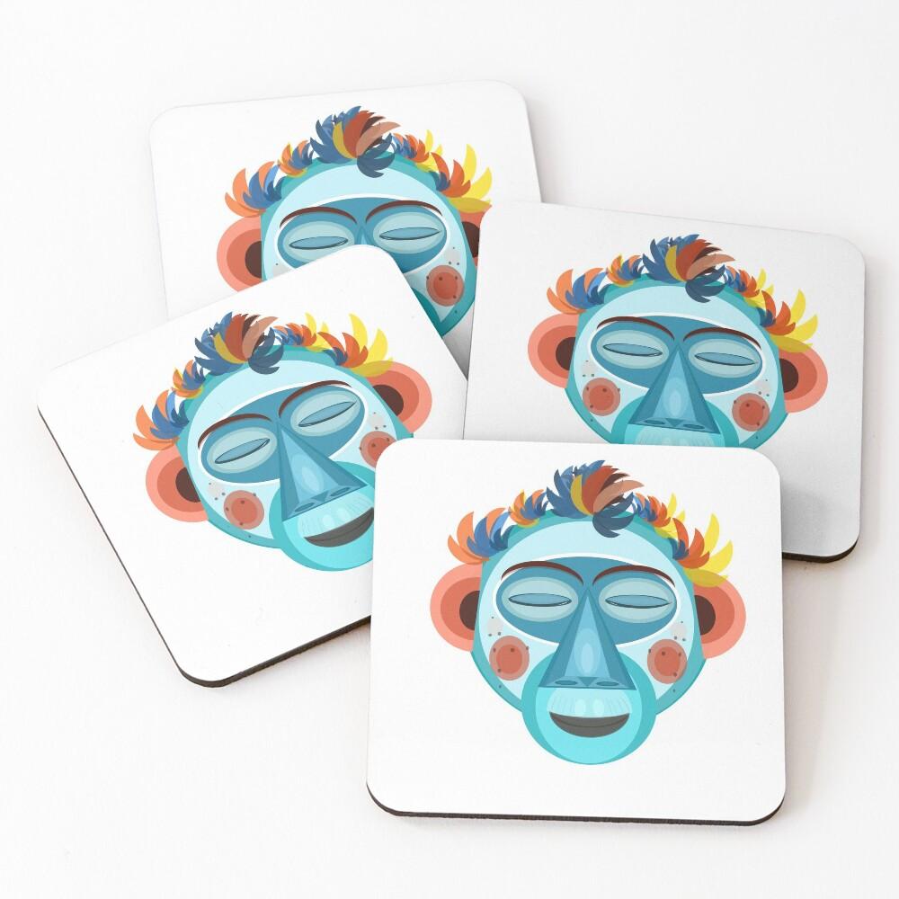 MOONKEY the Monkey - Meditation Coasters (Set of 4)