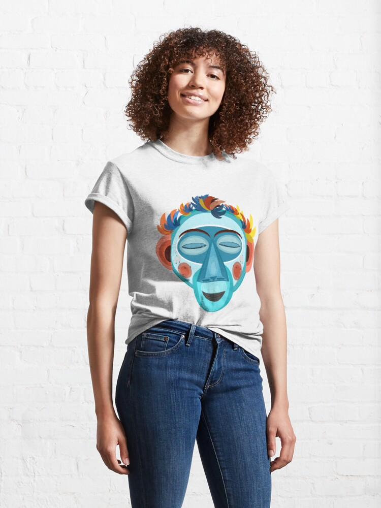 Alternate view of MOONKEY the Monkey - Meditation Classic T-Shirt