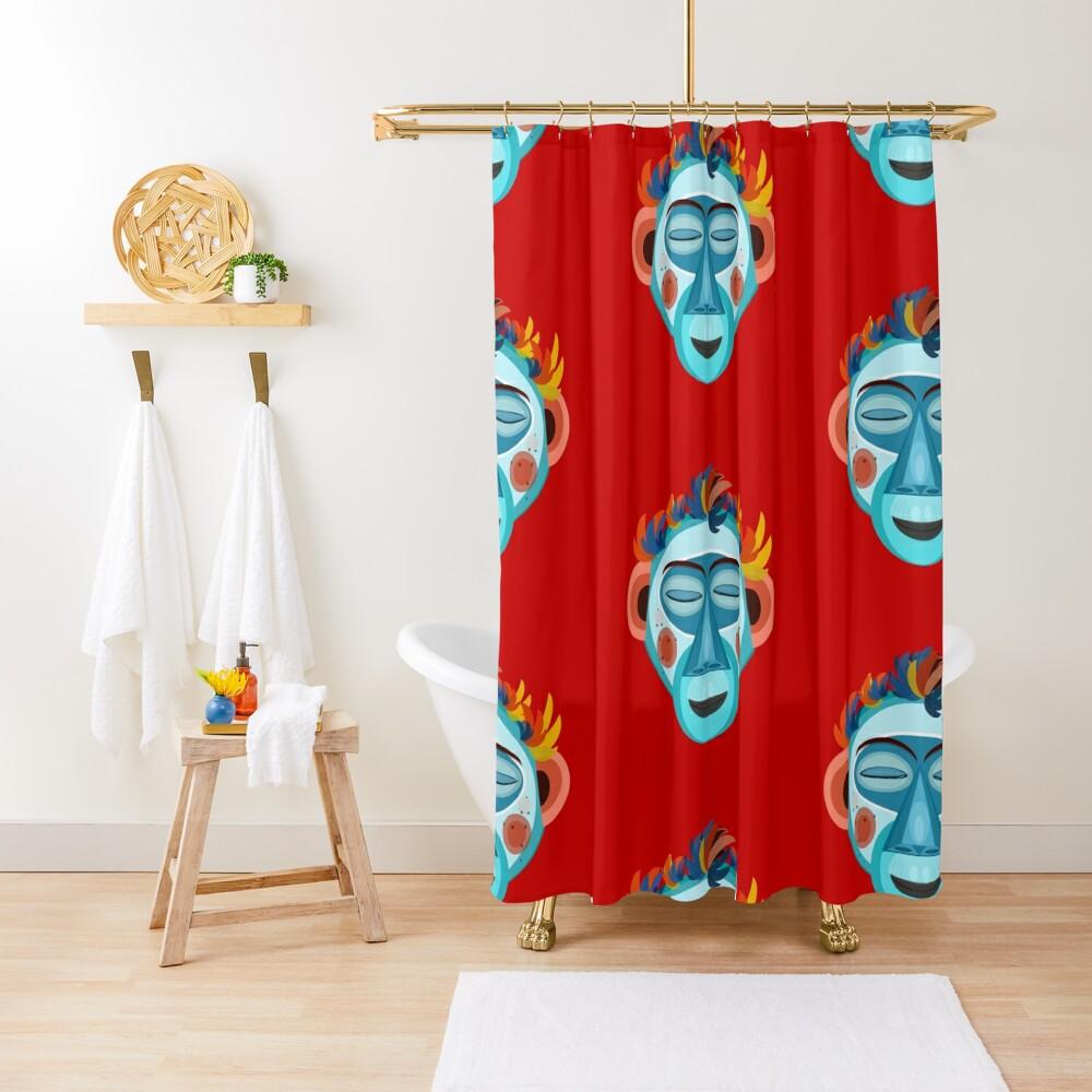 MOONKEY the Monkey - Meditation Shower Curtain
