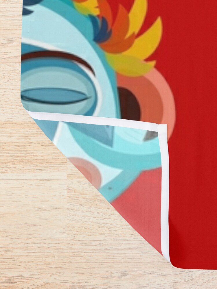 Alternate view of MOONKEY the Monkey - Meditation Shower Curtain