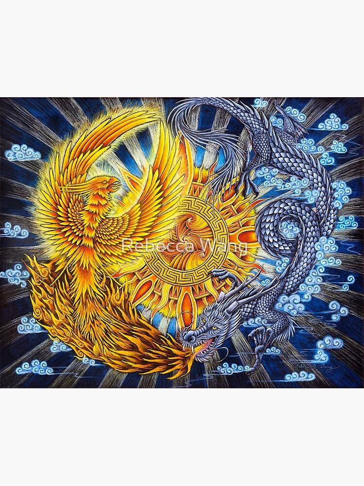 Chinese Phoenix and Dragon Mandala by lioncrusher
