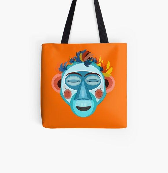 MOONKEY the Monkey - Meditación Bolsa estampada de tela