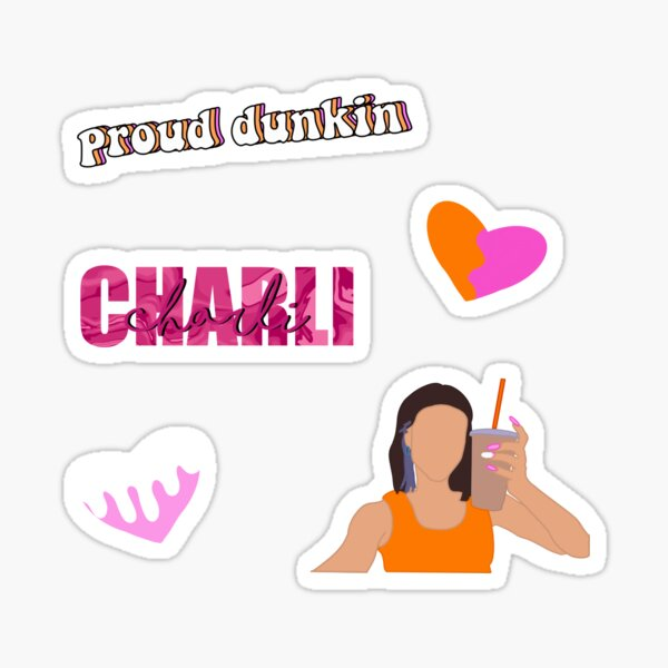 pack dunkin charli d'amelio Sticker