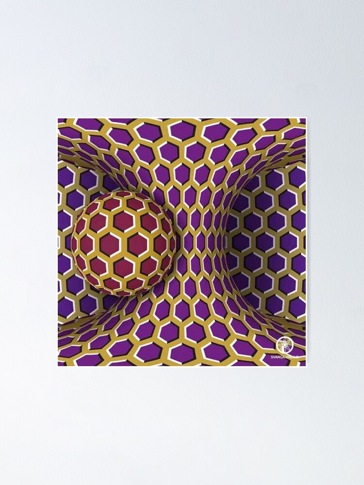 Alternate view of Motion Illusion Poster
