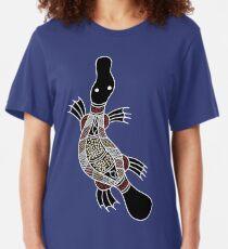 Aboriginal Art - Platypus Slim Fit T-Shirt