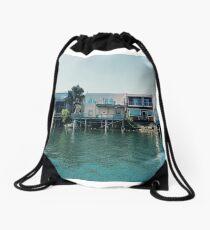 Floating towns Drawstring Bag