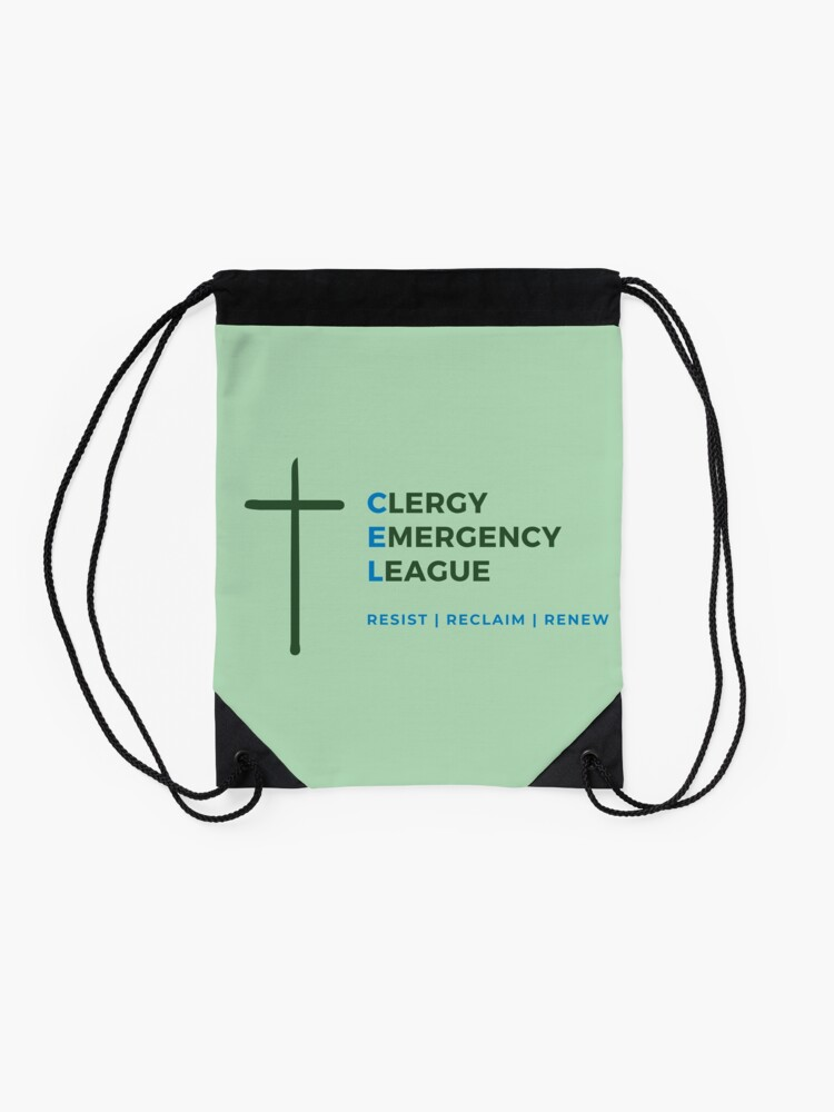 Alternate view of CEL Logo - Transparent  Drawstring Bag