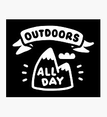 Outdoors All Day Photographic Print
