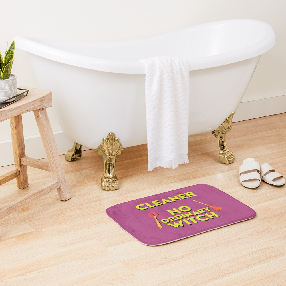 Cleaner No Ordinary Witch House Cleaner Gift Halloween Fun Bath Mat