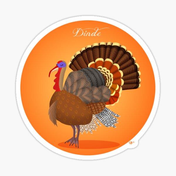 Turkey (dinde) Sticker