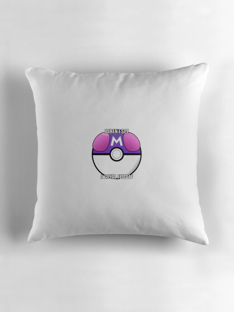 Masterball meme Throw Pillows by larrybitchass Redbubble